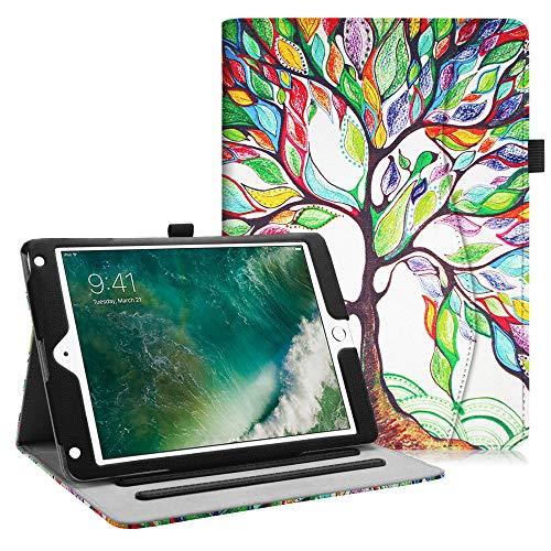Fintie iPad 9.7 2018 2017 / iPad Air 2 / iPad Air Case - [Corner Protection] Multi-Angle Viewing Folio Cover w/Pocket, Auto Wake/Sleep for Apple iPad 6th / 5th Gen, iPad Air 1/2, Love Tree