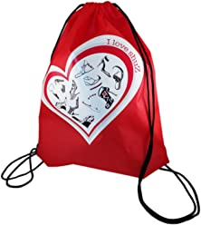 Happy Avenue Shoe Bag Pouch Dust Case Print Drawstring Yoga Gym Backpack I Love Shuz Collection