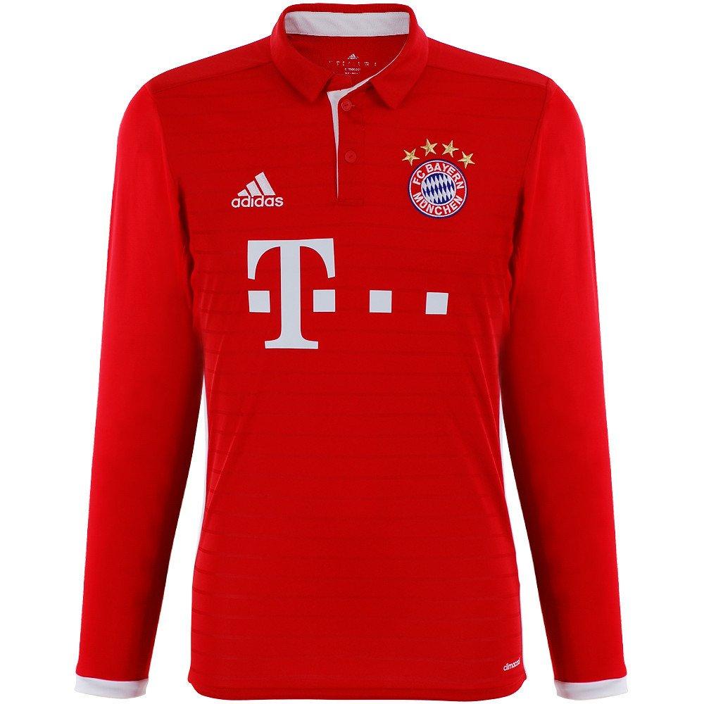 Adidas - Maglietta FC Bayern München Costa Home 2017 a Maniche Lunghe 68be8b442b7