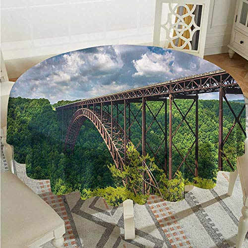 Tim1Beve USA Custom Tablecloth Canyon Rim Visitor Center Photo Dinner Picnic Table Cloth Home Decoration D60 INCH