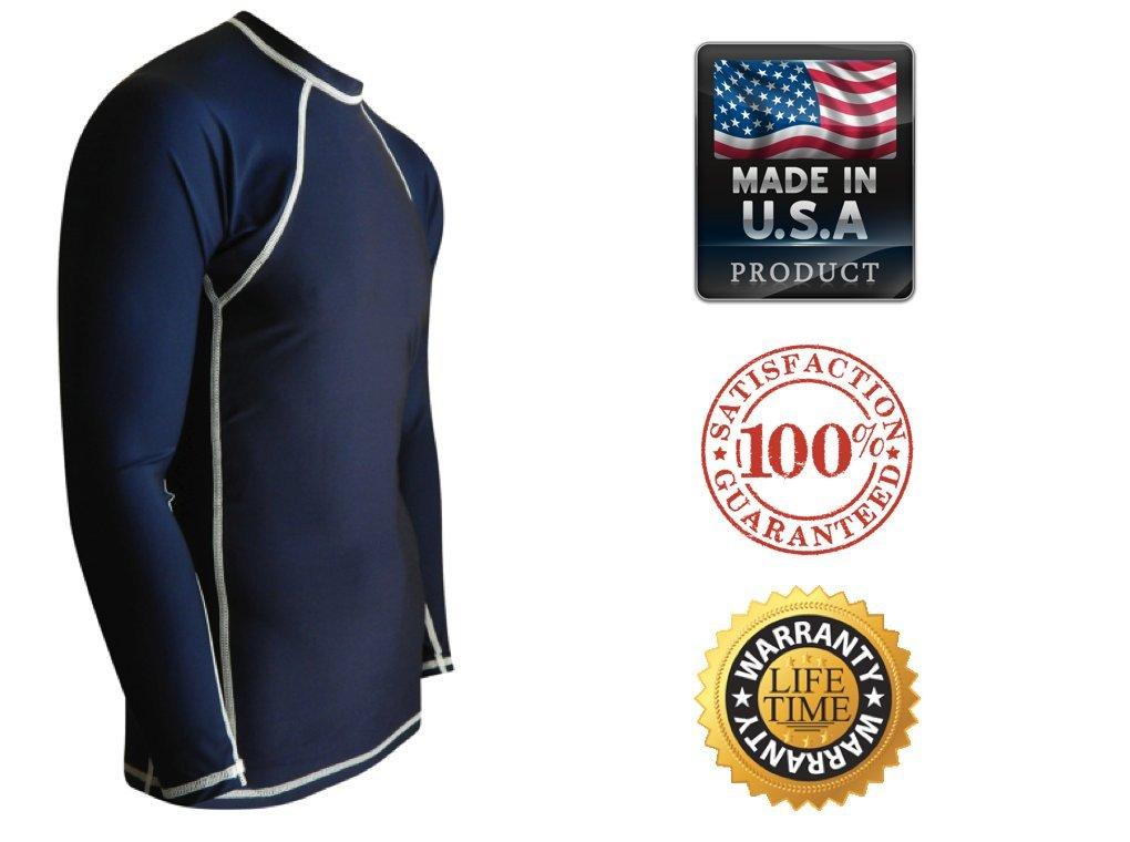 df88fd050f Rash Guards For Men - UV 50 Sun Protection Swim Shirts Long Sleeve ...