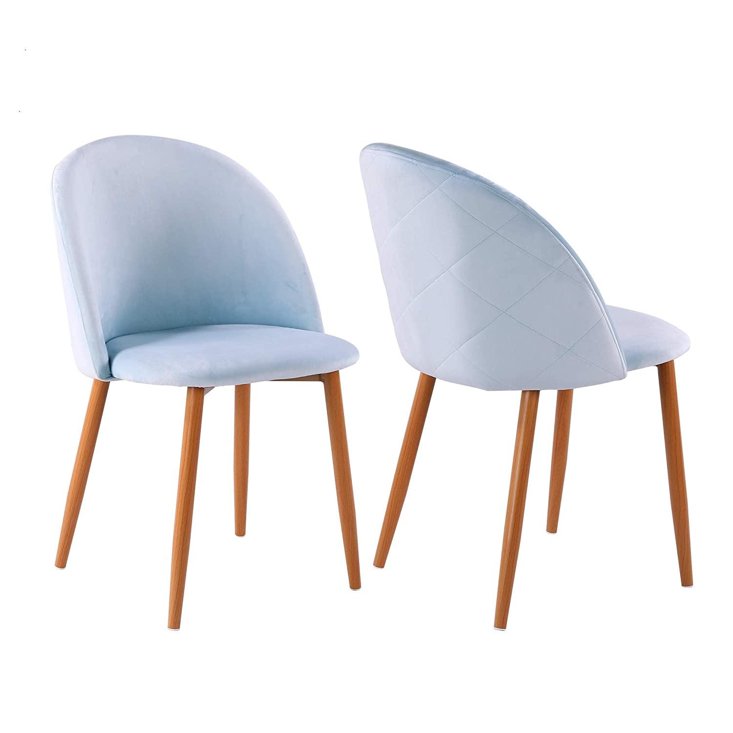 Fayean dining chair soft velvet cushion chair with sturdy metal legs for home kitchen living room set of 2aqua amazon co uk kitchen home