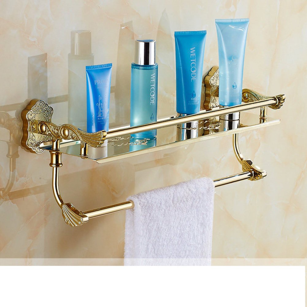 free shipping European-style painted folding Towel rack/Golden white racks/Bathroom Towel rack/ double with double bar rack-P