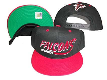 02d3b66f118 Image Unavailable. Image not available for. Color  Atlanta Falcons Black Red  Two Tone Plastic Snapback Adjustable Plastic Snap Back Hat Cap