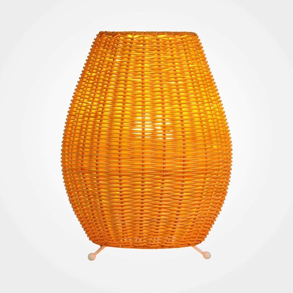 H30cm Ame Abat Jour En Rotin Lampe De Table Simple Et