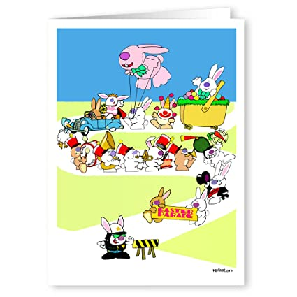 Amazon easter parade greeting card pack cute 5x7 easter easter parade greeting card pack cute 5x7 easter cards 18 m4hsunfo