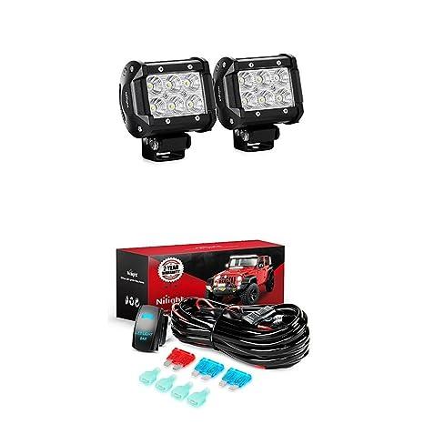 61 0Y2h9U4L._SX466_ amazon com nilight led light bar 2pcs 18w flood led off road lights