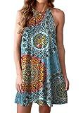 Feiersi Women's Dress Sweet & Cute Sleeveless Sleepwear Shift Dress Mini Dress
