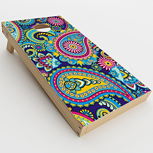 Mix Paisley - Skin Decal Vinyl Wrap for Cornhole Game Board Bag Toss / Colorful Paisley Mix