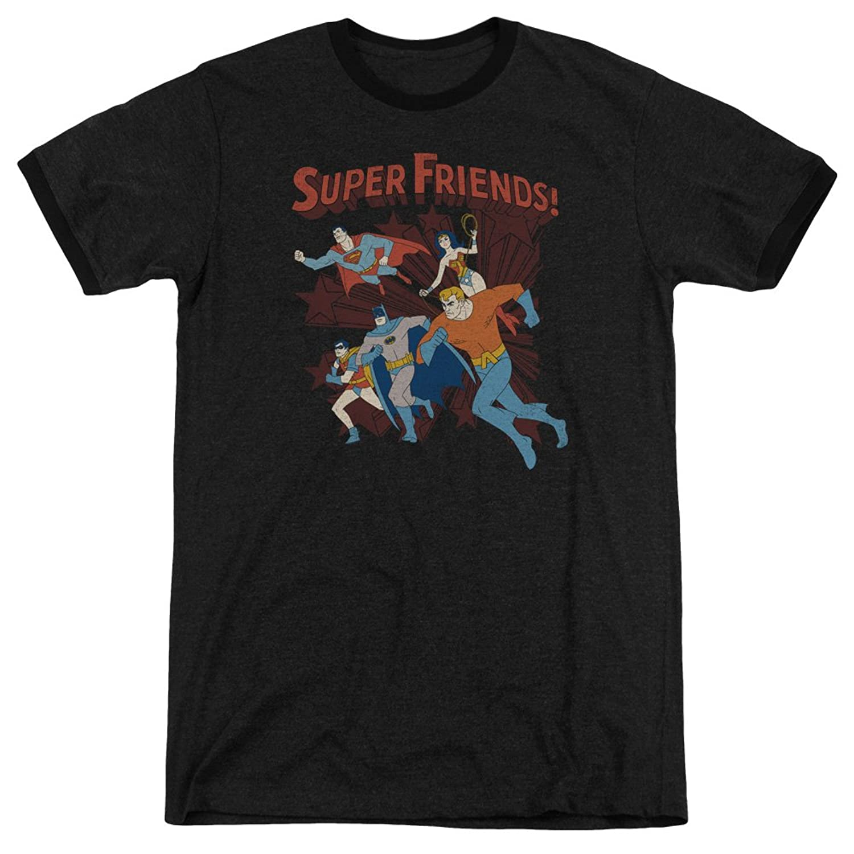 DC Comics Men's Super Running Ringer T-Shirt