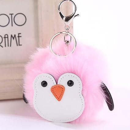 Amazon Com Brave669 Cute Fluffy Penguin Handbag Charm Pendant Car