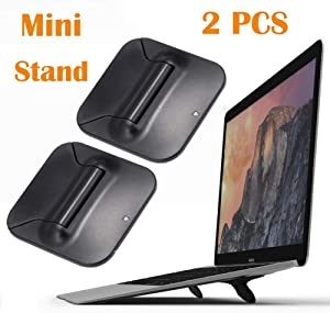 Invisible Laptop Stand, Foldable Tablet Stand Keyboard Holder Travel Notebook Mount Ergonomic Laptop Riser Mini Pad Stand Phone Stand Laptop Cooler for MacBook Pro Air Dell HP iPad and More