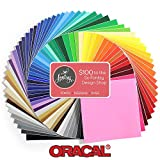 Oracal 651 Mega 61 Sheet Pack -12 inch x 12 inch Sheets of Oracal Glossy Permanent Vinyl with $100 Design Card