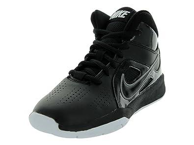 35651486acb32 Nike Team Hustle D 6 Black/White Boys Basketball Shoes