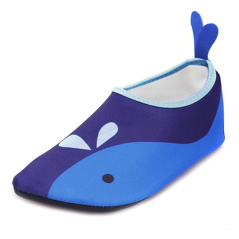 JACKSHIBO Jungen Mädchen Strandschuhe Schwimmschuhe Aqua Schuhe Unisex-Kinder Surfschuhe Badeschuhe