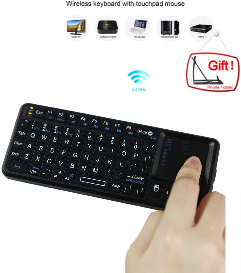 QYEND Mini USB Wireless Keyboard Computer Small Keyboard Wireless Infrared Pointer Teaching Conference Keyboard 2.4G for PC Desktop Smart TV Notebook