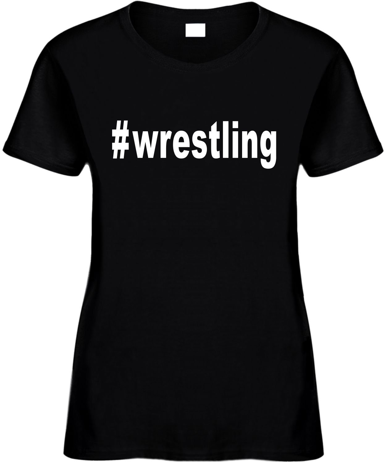 Signature Depot Women's Size 3X Funny T-Shirt (#Wrestling (Hashtag Tee Shirt) Sports) Ladies by Signature Depot
