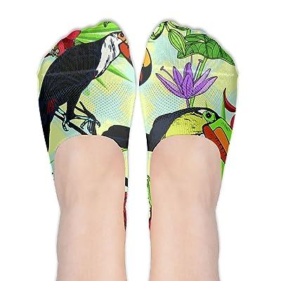 Bird In Forest Pattern Female Polyester Cotton Socks Women Boat Socks Thin Casual Socks Low Cut Socks