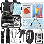 EMDMAK Survival Kit Outdoor Emergency Gear Kit Camping Hiking Travelling Adventures