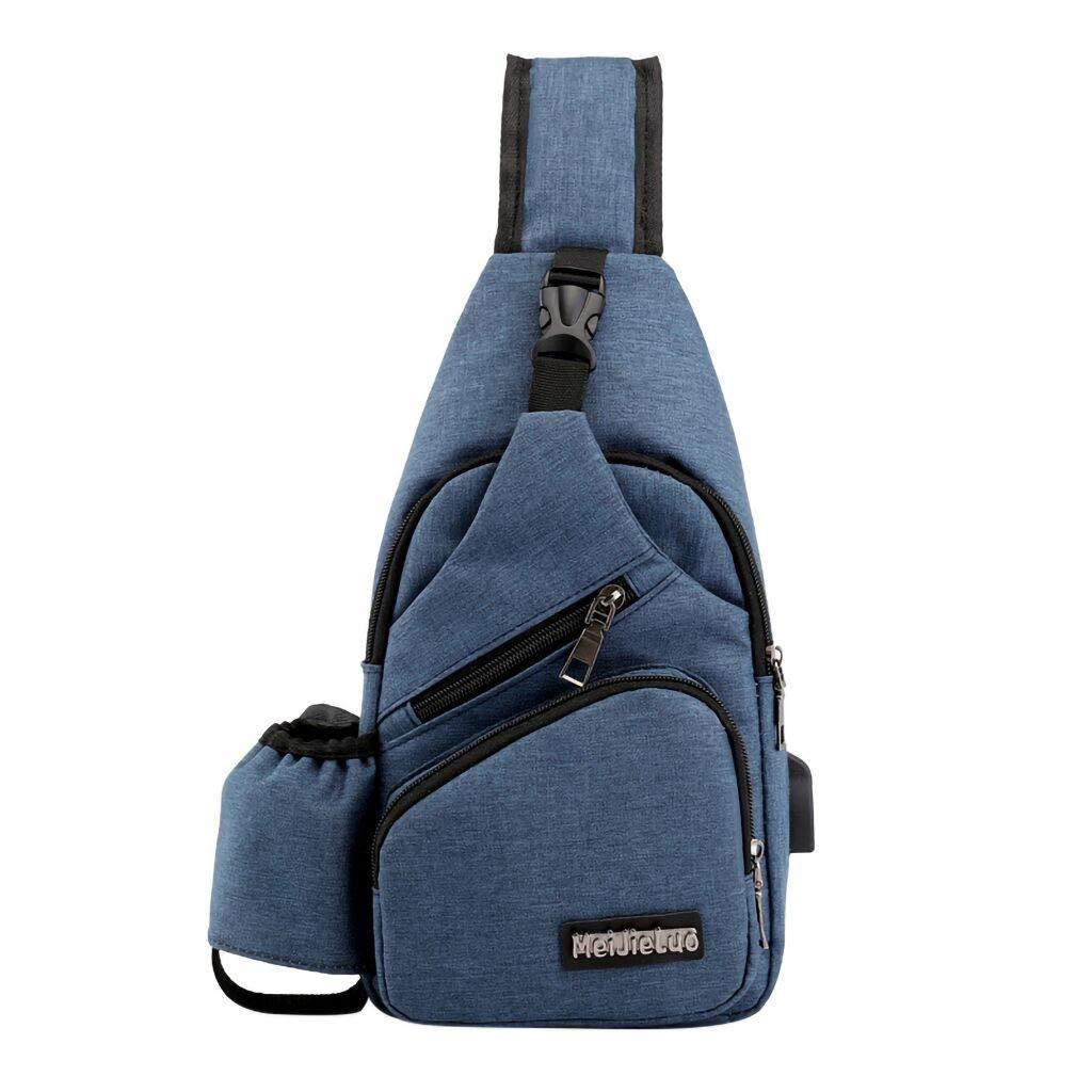 2019 Fashion Oxford Chest Bag,Mens Charging Chest Bag Travel Bag Fashion Bag Multi-Function Messenger Bag