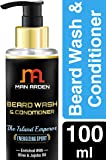 Man Arden Beard Wash Island Emperor Shampoo & Conditioner (With Olive & Jojoba Oil, No Sulphate, Paraben), 100ml