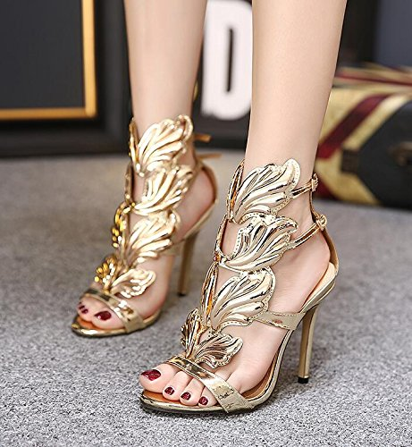 XX&GXM XX&GXM XX&GXM 2017 New Summer Gifts European and American style Fine with Super high Heel Dew Toe High heel sandals,Golden... B0731CJM9Z Shoes f586f1