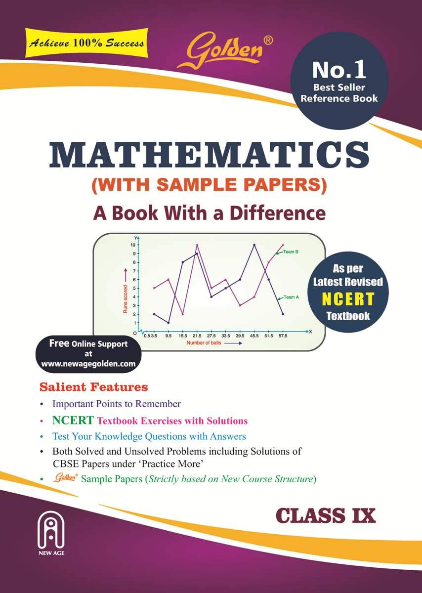 Golden Mathematics: (With Sample Papers) A book with a Difference Class-9 (For 2022 Final Exams)