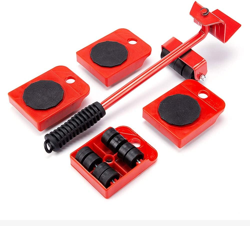 Household Tools 5 Pieces CHIFAN Furniture Moving System//Lifting Tool Heavy Lifting and Gliding Lever System Load Bearing 300KG