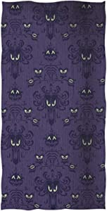 Haunted Mansion Hand Towel Face Towel Soft and Fast Drying Washcloths for Bathroom Sports Travel Yoga 15 x 30 Inch