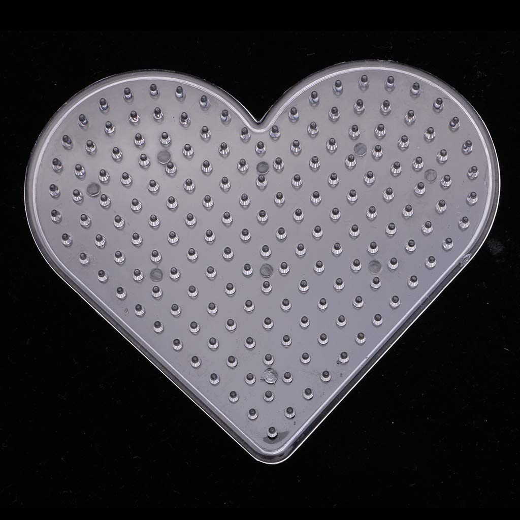 Pegboards Fuse Beads Board For Kids DIY Craft Baoblaze 6Pcs Clear Clear Beaded Boards Love
