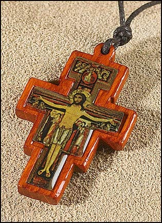 AT001 12pc San Damiano Crucifix Pendant - ()