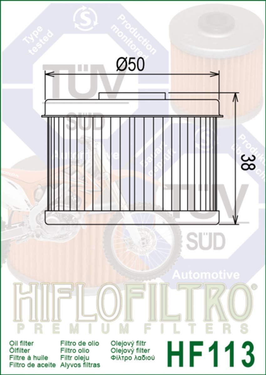 Hiflofiltro Premium Ölfilter Mq F Adly Herchee Atv 300 S Hf113 824225110029 Auto