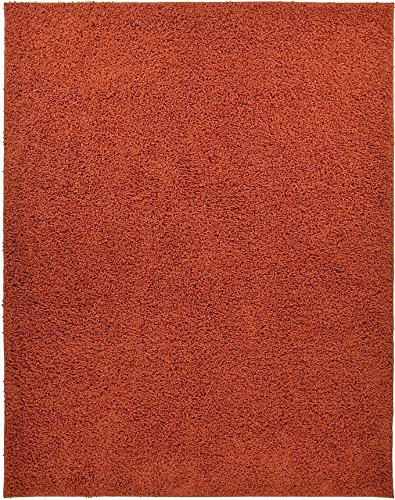 Shaggy Collection Solid Color Shag Area Rugs (Burnt Orange, 3'3
