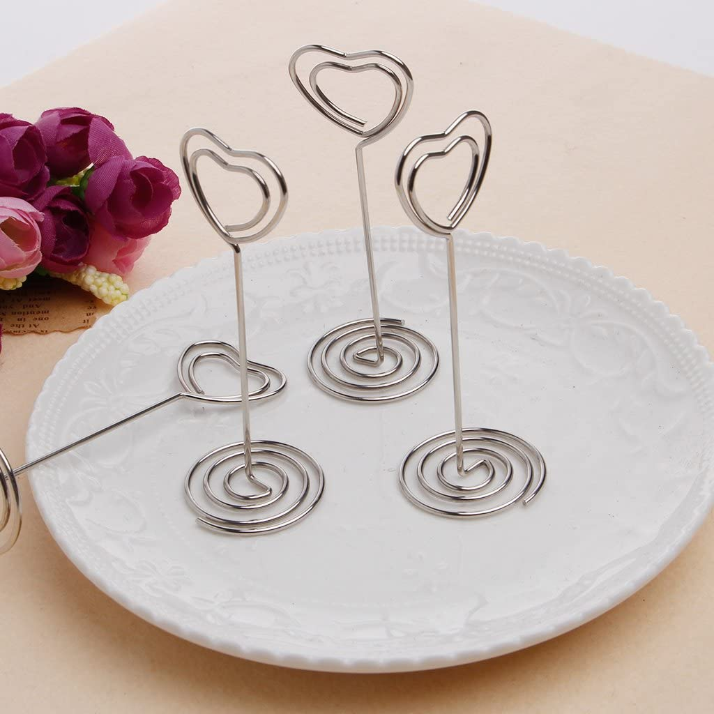 MB-LANHUA 10 Pieces Place Card Holder Wooden Table Number Stand Place Name Memo Card Holder Wedding Party Decor