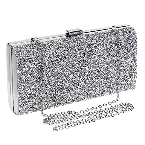 Diamond Fashion Banquet JESSIEKERVIN Clutch Dress Silver Purse Evening Handbag Bag Ladies Bag TwSCAqd