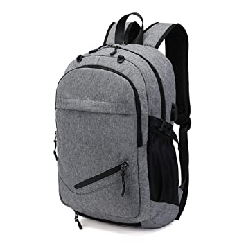 abd726e3e94b HaloVa Travel Backpack, Large Capacity Laptop Backpack with USB Charging  Port, Waterproof School Bag with Basketball Mesh Exercise Fitness Backpack  ...