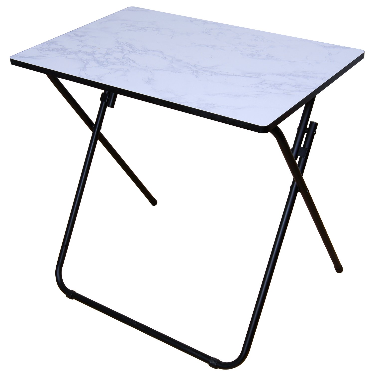 Lifewit Folding Utility Table, Wooden End Table, Snack Table for Patio / Garden / Outdoor / Indoor, White (Stainless_Steel)