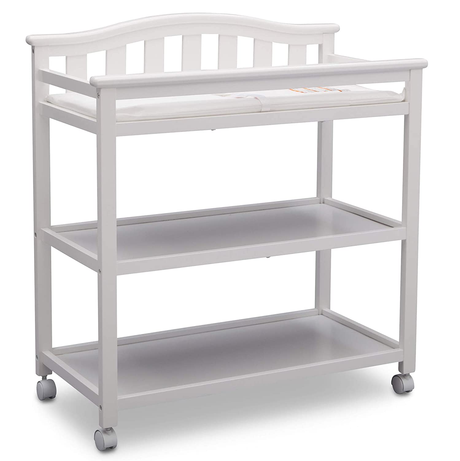 Grey Delta Children Bell Top Changing Table with Casters