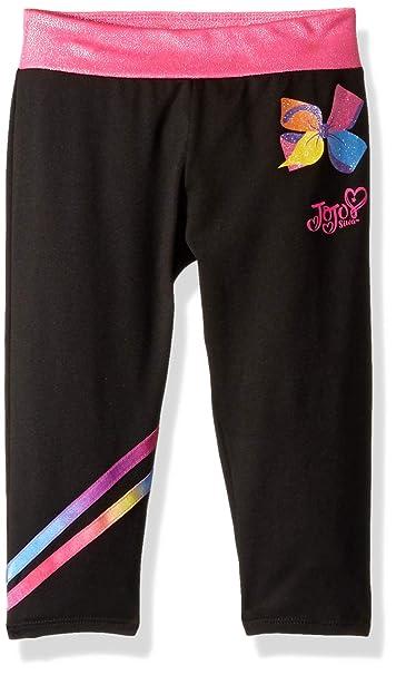 7ddd6d96642407 Jojo Siwa By Danskin Girls' Big Sparkle Capri, Black/Pink Multi Colorful  rainbows