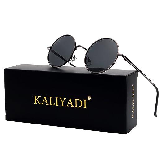 0515e23fc46 Retro Vintage Style Lennon Inspired Round Metal Circle Polarized Sunglasses