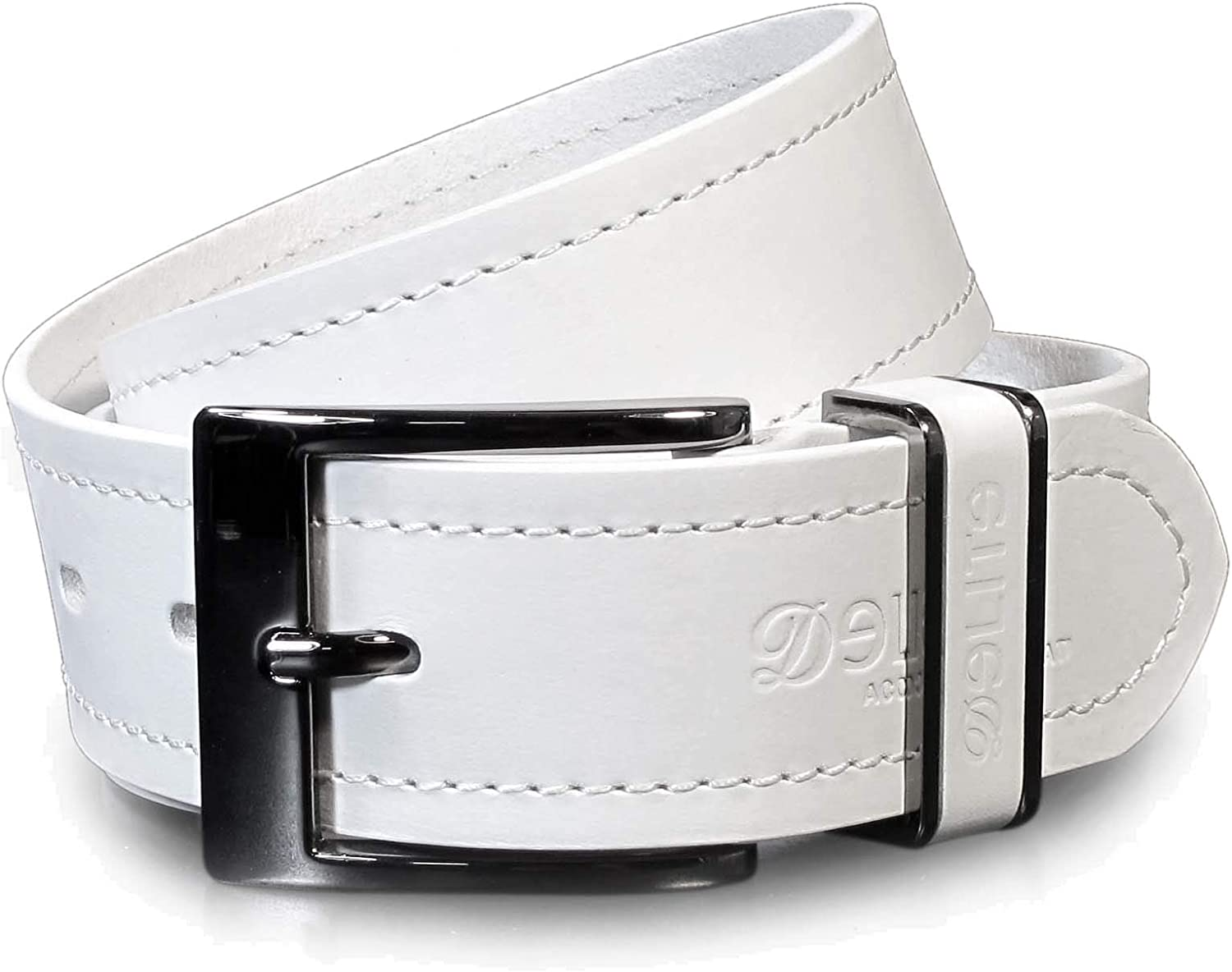UM5 Mens Real Genuine Leather White Belt 1.5 Wide S-XL Thick Long Casual Jeans