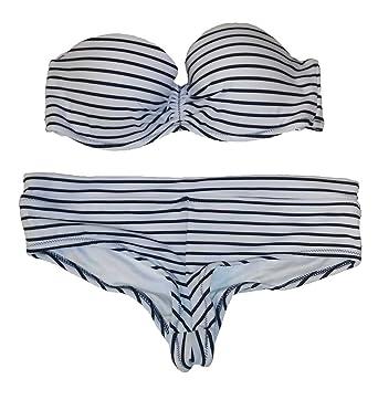 e7d2b19daf898 Amazon.com: Victoria's Secret 2PC Swimsuit Bikini Set Strapless ...