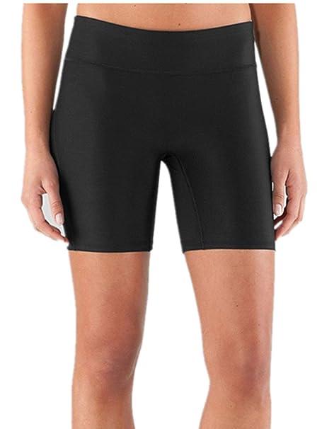 XIAOLI COLLETION Black Women Long Swim Bottoms Runing Exercise Pants Yoga Boardshorts
