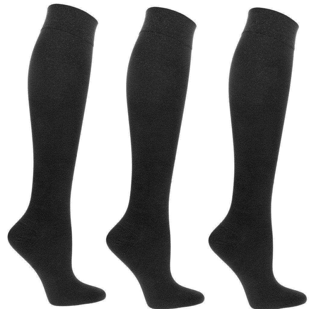 Sugar Free Sox 3 Pack Black Compression Socks