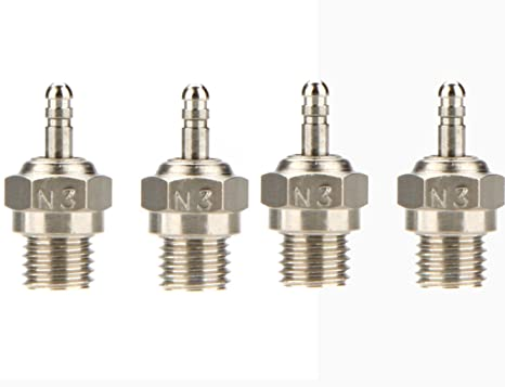 Amazon.com: jrelecs 4 Pcs Original HSP N3 N4 Glow Plug Spark Plug 70117 For RC Cars: Toys & Games