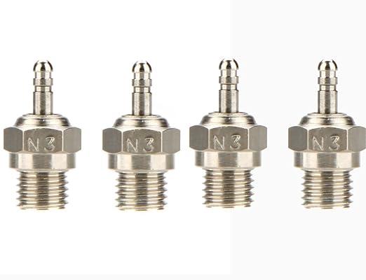 Amazon.com: jrelecs 4 Pcs Original HSP N3 N4 Glow Plug Spark Plug 70117 For RC Cars: Toys & Games