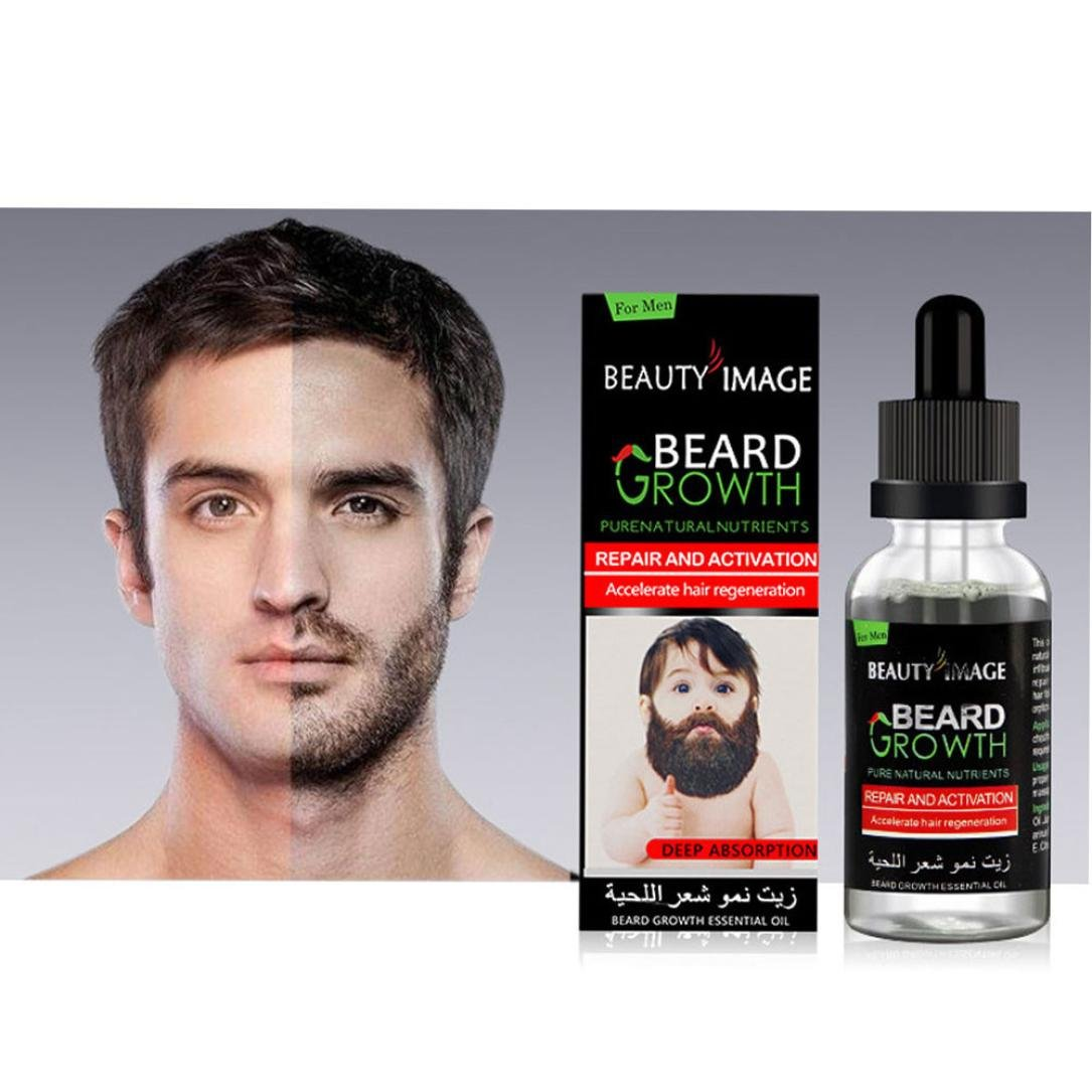 Beard Balm Growth Essential Oil,Lotus.flower Beard Growth Essential Oil Moustache Styling Moisturizing Gentlemen Care 10ML (40ml)