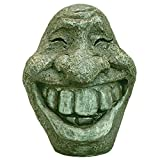 Bits and Pieces-Big Stone Smiley Face-Polyresin Garden Statue – Perfect Ornament for Your Garden, Porch or Patio For Sale