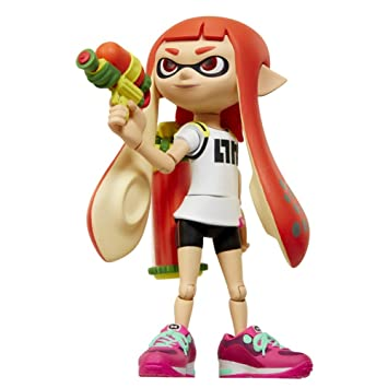 World Of Nintendo Inkling Girl With Blaster Action Figure 4quot