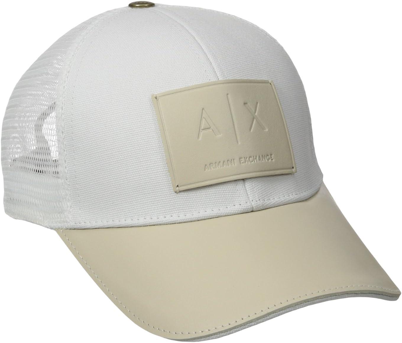 AX Armani Exchange Men's Logo Patch Mesh Hat